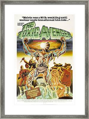 The Toxic Avenger, Mitchell Cohen, 1985 Framed Print