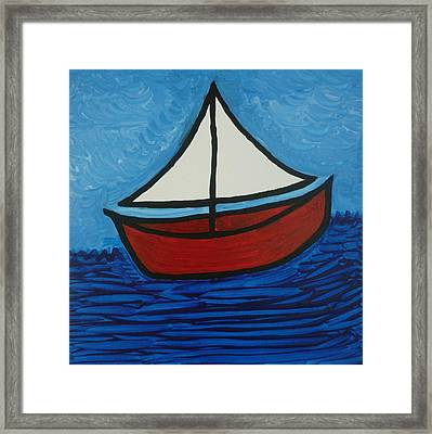 The Toy Boat Framed Print by Gregory Young