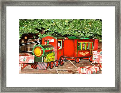 Framed Print featuring the photograph The Toy Train by Ann Murphy