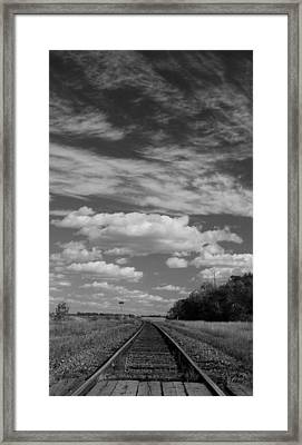 The Tracks Framed Print by Ellery Russell