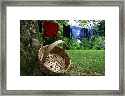 The Traditional Approach To Washday Framed Print by Stephen St. John