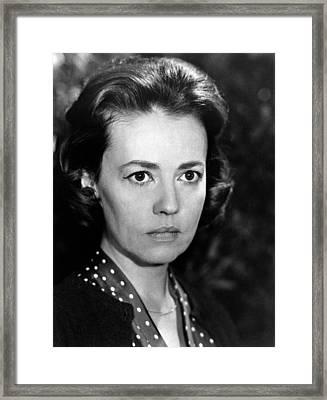The Train, Jeanne Moreau, 1964 Framed Print