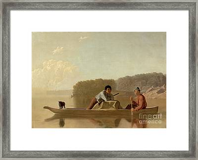 The Trapper's Return Framed Print by George Caleb Bingham