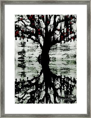 Framed Print featuring the painting The Tree The Root by Amy Sorrell