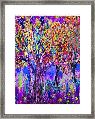 The Trees Are Singing Framed Print by Robin Jensen