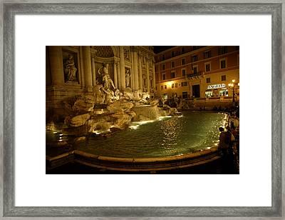 The Trevi Fountain At Night Framed Print by Stephen Alvarez