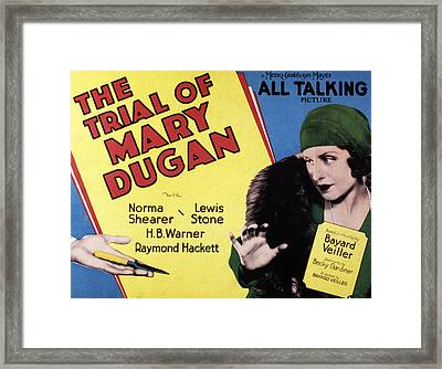The Trial Of Mary Dugan, Norma Shearer Framed Print by Everett
