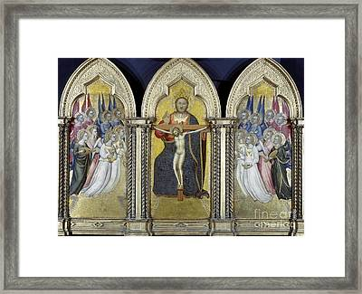 The Trinity With Angels Framed Print