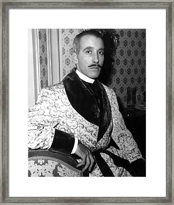 The Truth About Women, Christopher Lee Framed Print by Everett