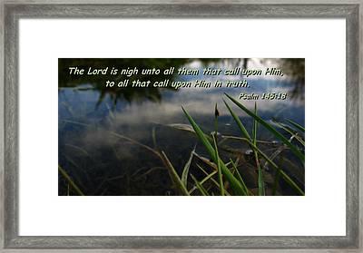 The Truth Factor Framed Print