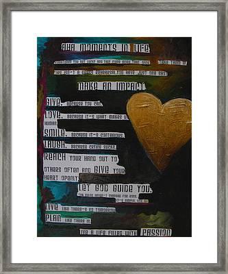 The Truth Is Framed Print by Patti Schermerhorn