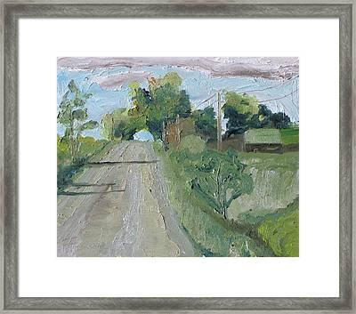 The Tunnel In The Trees Framed Print