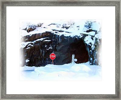 The Tunnel View Tunnel Framed Print by Heidi Smith