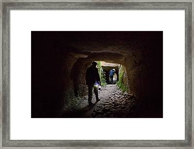 The Tunnels That The Water Framed Print
