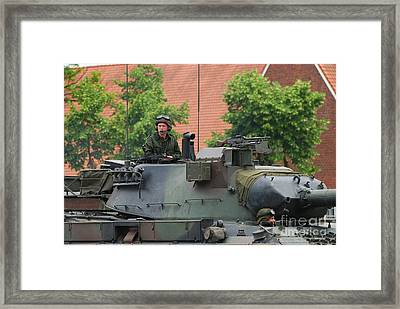 The Turret Of The Leopard 1a5 Main Framed Print by Luc De Jaeger