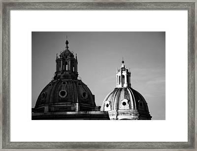 The Twin Domes Of S. Maria Di Loreto And Ss. Nome Di Maria Framed Print by Fabrizio Troiani