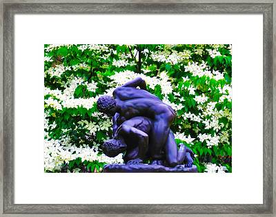 The Two Wrestlers Framed Print by Bill Cannon