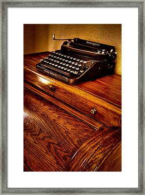 The Typewriter Framed Print by David Patterson