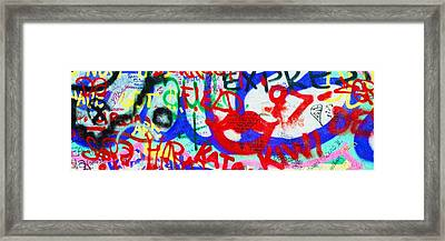 The U2 Wall, Windmill Lane, Dublin Framed Print