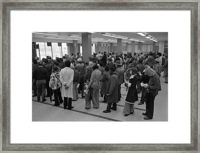 The Unemployed And Foodstamp Applicants Framed Print