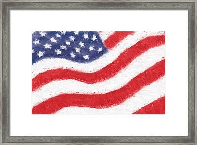 The United States Flag Framed Print by Heidi Smith