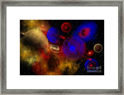 The Universe And Its Wondrous Colors Framed Print by Mark Stevenson