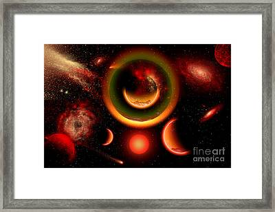 The Universe Is A Place Of Intense Framed Print by Mark Stevenson