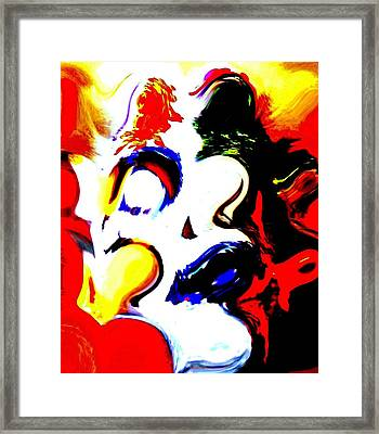 The Unmasking Of Youth Framed Print