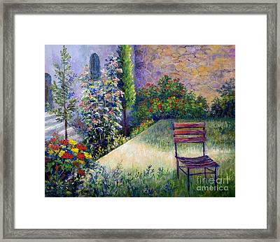 Framed Print featuring the painting The Unseen Guest by Lou Ann Bagnall