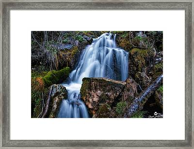 The Upper Butler Fork Falls Framed Print by Mitch Johanson
