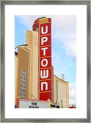 The Uptown Theater In Napa California Wine Country . 7d8982 Framed Print by Wingsdomain Art and Photography