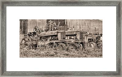 The Usual Suspects Bw Framed Print by JC Findley