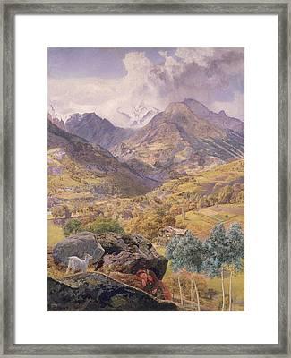 The Val D'aosta Framed Print by John Brett