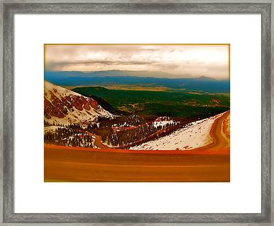 The Valley Framed Print by Amber Hennessey