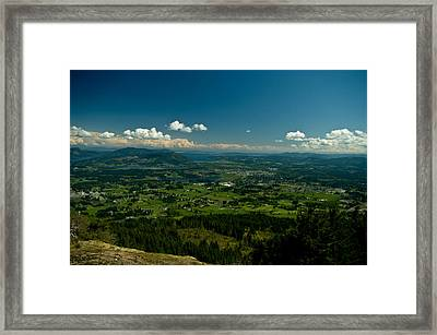 The Valley Framed Print by Travis Crockart