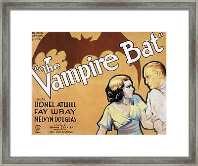 The Vampire Bat, Fay Wray, Lionel Framed Print by Everett