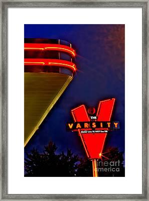 The Varsity Sign 2 Framed Print by Corky Willis Atlanta Photography