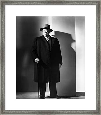 The Velvet Touch, Sydney Greenstreet Framed Print