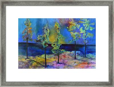 The View Framed Print by Claire Bull
