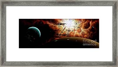 The View From A Busy Planetary System Framed Print by Brian Christensen