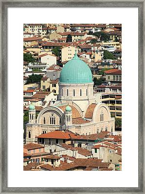 The View From Above Framed Print by