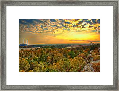 The View From Klondike Overlook Framed Print by Bill Tiepelman