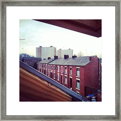 The View From My #house #roof Framed Print