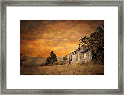 The View From The Road Framed Print by Kathy Jennings