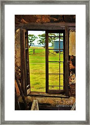 Framed Print featuring the photograph The View From Within by Blair Stuart