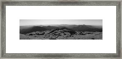 The View North From Mt. Marcy Black And White Three Framed Print