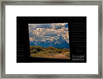 The View Framed Print by Robert Bales