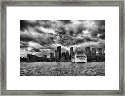 The View To Circular Quay Framed Print by Douglas Barnard