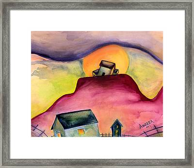 The Village Framed Print by Andrea Camp