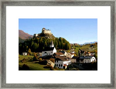 The Village Of Engalin Framed Print by Jann Paxton